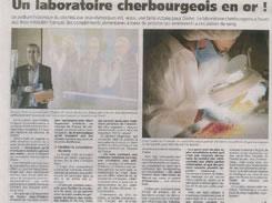 """フランスの新聞""""La presse de Manche""""にも取り上げられました"""