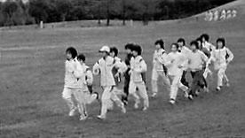 河東中学(福岡県宗像市)クロスカントリー練習で全国制覇